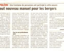 Article du Dauphiné Libéré paru le 26/10/15